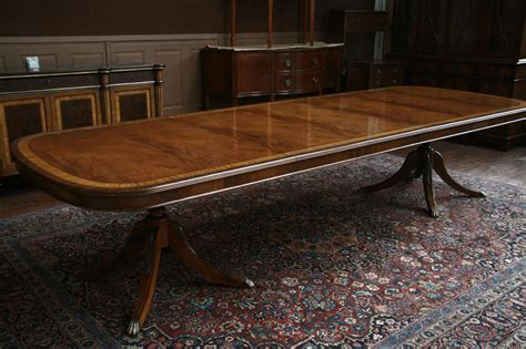 12 foot dining room table long mahogany dining table in walnut finish reproduction