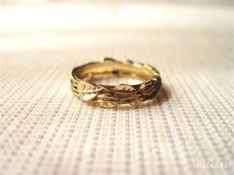 Wedding Rings Leaves by Gold Leaf Wedding Ring Gold Wedding Leaf Ring Leaves By Benati