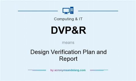 design verification is what does dvp r mean definition of dvp r dvp r stands