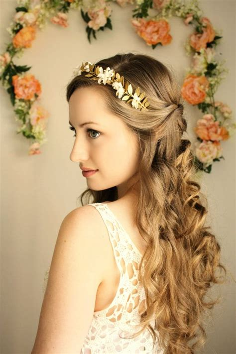 greek goddess hairstyles goddess flower crown laurel leaf headpiece grecian tiara