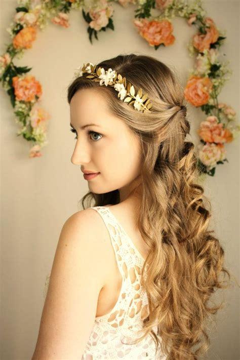 Goddess Flower Crown, Laurel Leaf Headpiece, Grecian Tiara