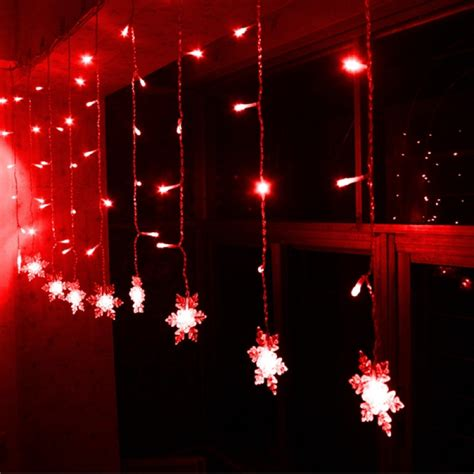 buy led snowflake light string christmas wedding curtain