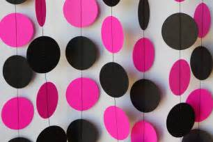 pleasing pink and black birthday decorations simple