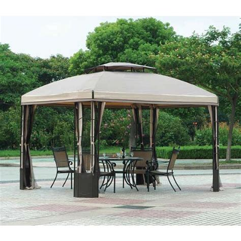 patio gazebo 10 x 12 10 x 12 bay window gazebo replacement canopy riplock 350