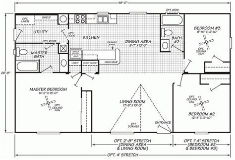fleetwood mobile home floor plans inspirational 1999 fleetwood mobile home floor plan new