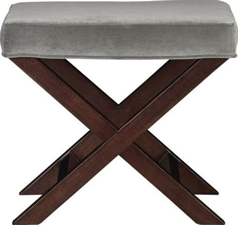 x bench stool x base benchvanity stool como nickel modern vanity stools