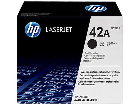 Toner Hp Laserjet Black 42a Q5942a Original hp 42a black laserjet toner cartridge