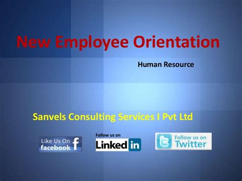 new employee orientation powerpoint template new employee orientation for a company human resource ppt