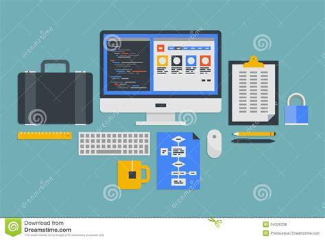 modern web development workflow web programming development stock vector image 34326338