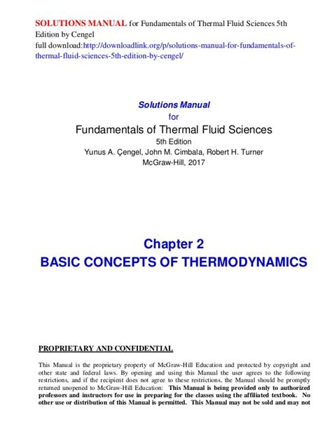 Applied Thermodynamics 5th Edition Solution Manual Liasulofet