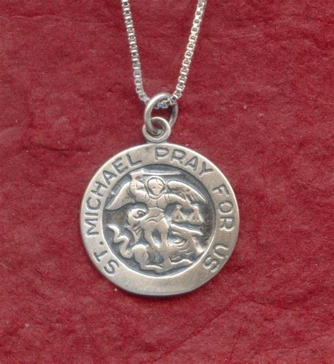 sterling silver st michael necklace 925 charm pendant n