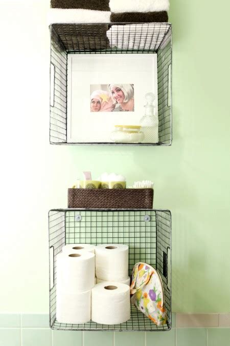 Bathroom Storage Shelves With Baskets 42 Bathroom Storage Hacks That Ll Help You Get Ready Faster