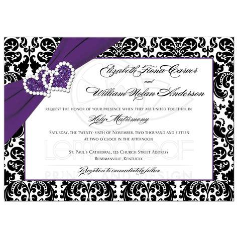 printable wedding invitation template psd photoshop violet purple