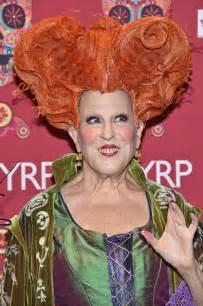 bette midler in hocus pocus costume bette midler dressed up in hocus pocus costume for