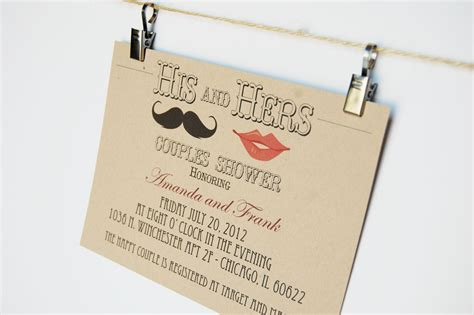his and hers invitations templates wedding invitations his and hers couples shower
