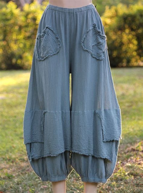 Mlc Fashion Etnhic Baloon Pant oh my gauze cotton lagenlook guchi harem layered wide m l xl 1x them implied and