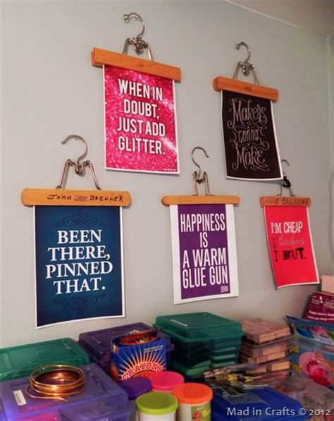 and craft ideas for room decoration mad in crafts a diy craft room