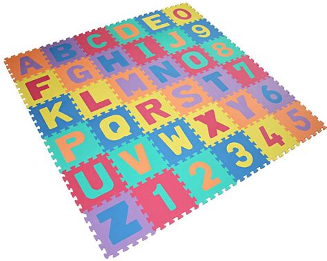 Soft Play Puzzle Mat by New 36pcs Baby Children Soft Foam Alphabet Number Jigsaw