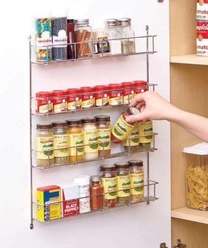 Pantry Wall Organizer Wall Mount Spice Rack Organizer Kitchen Wire Storage