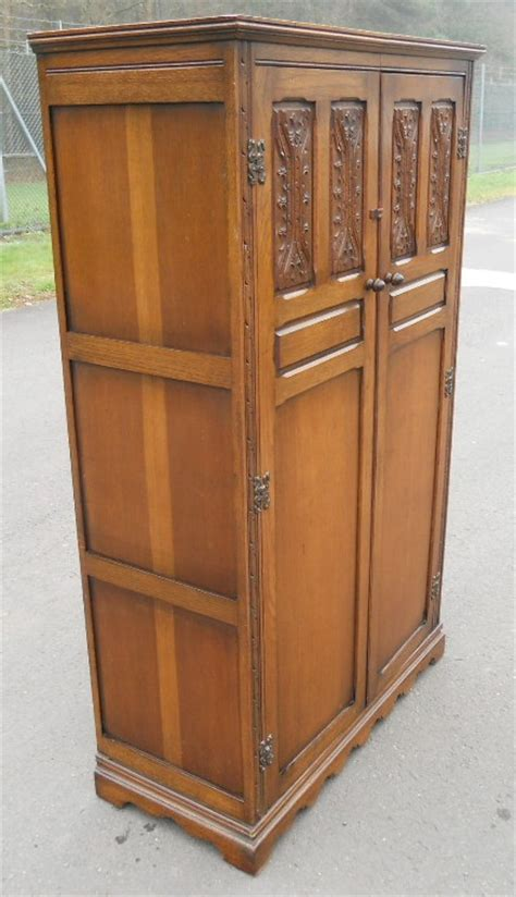 Small Wooden Wardrobe Small Carved Oak Fitted Wardrobe By Wood Bros