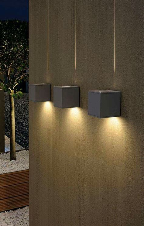 dual cube lighting a chunky square exterior wall light