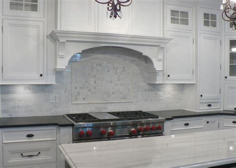 Marble Kitchen Backsplash Design White Marble Backsplash Someday Kitchen Ideas