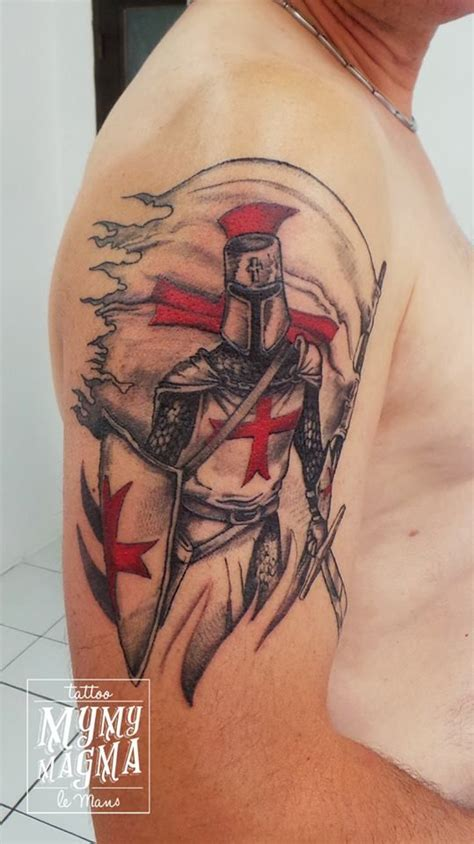 knights templar cross tattoo women tatouage templier mymymagma tatouagelemans