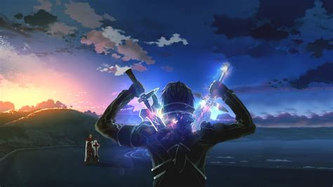 anime wallpaper 1360x768 hd kirigaya kazuto and kayaba akihiko sword art online anime