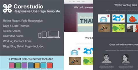 corestudio responsive one page html5 template your
