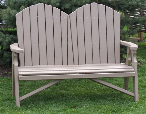 adirondack bench poly adirondack loveseat amish direct furniture