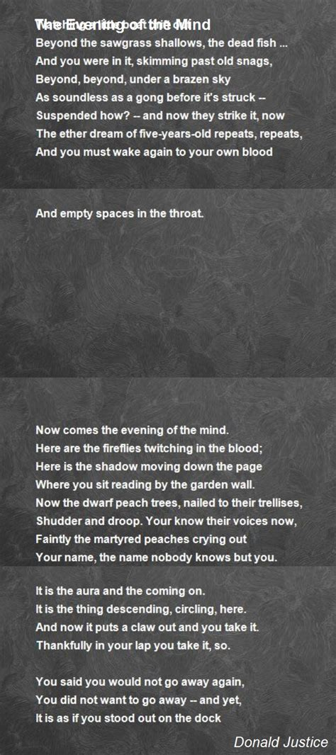 brain s name poem by iiriver of blood on deviantart the evening of the mind poem by donald justice poem