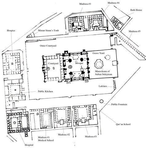 Floor Plan Of A Mosque by Suleymaniye Mosque Istanbul Ephesus Tours