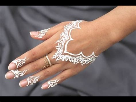 best diy how to apply white henna body paint temporary