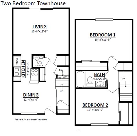 2 bedroom townhouse two bedroom townhouse plans 28 images 2 bedroom
