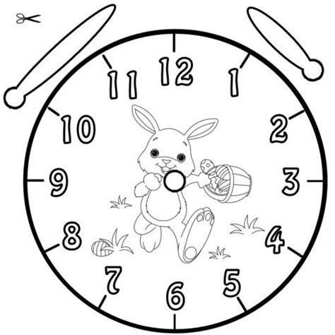 Kostenlose Vorlage Uhr Kostenlose Malvorlage Uhrzeit Lernen Ausmalbild Ostern Zum Ausmalen