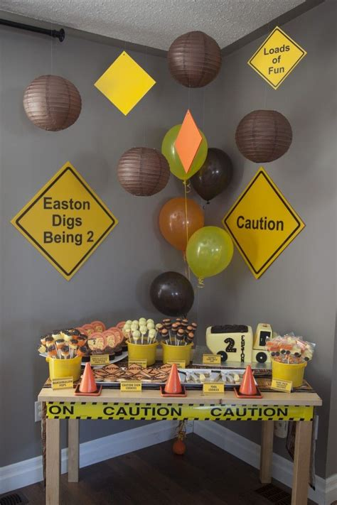 construction themed birthday supplies construction themed 2nd birthday boy birthday