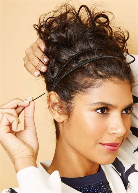toss your hair into a messy bun on extra humid days