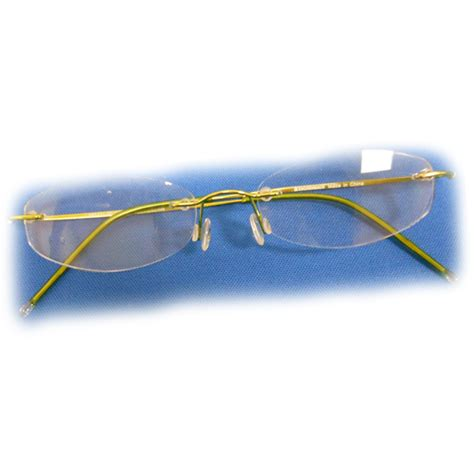 2 diopter eschenbach rimless reading glasses green oval