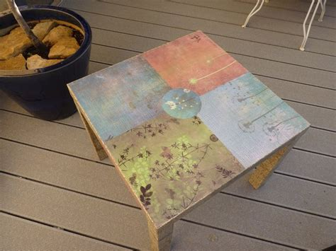 Decoupage Tabletop - 17 best images about decoupage furniture on