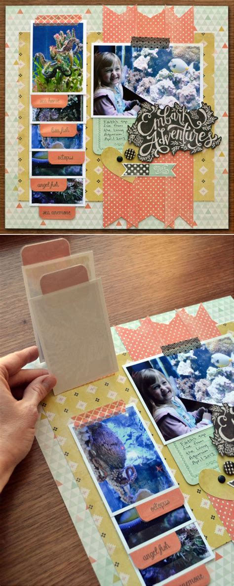 Tab Dispensers For Your Scrapbook Layouts by Unique And Easy Scrapbook Ideas Scrapbook With