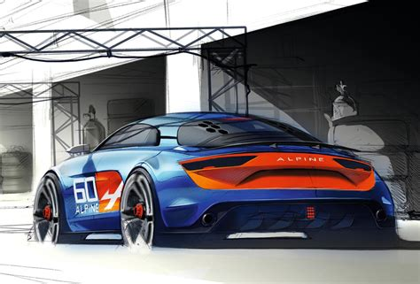 renault alpine celebration renault alpine celebration concept takes a bow in le mans