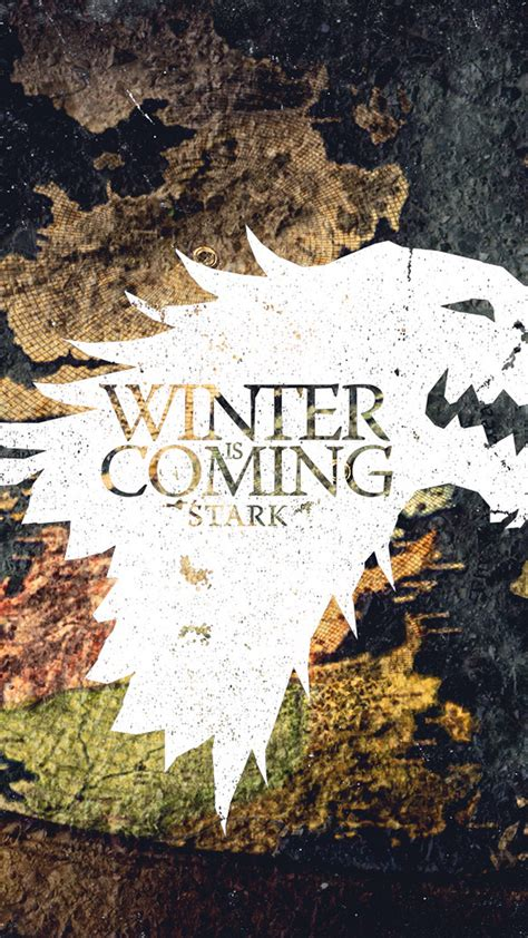 winter  coming game  thrones stark android wallpaper