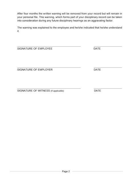 employee written warning template weld teaching pinterest template