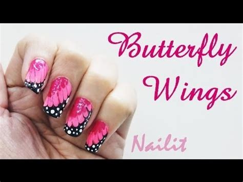 tutorial nail art fiore easiest nail art tutorial for butterfly wings nails step