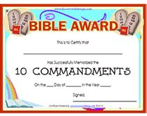 Printable Bible Award Certificates Bible Study Certificate Templates