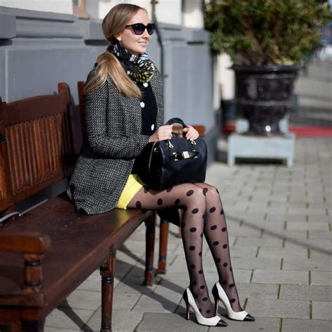 patterned tights lookbook shiny dots patterned tights lookbook by hype the look