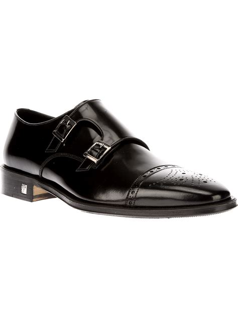 versace loafers for versace monk loafer in black for lyst