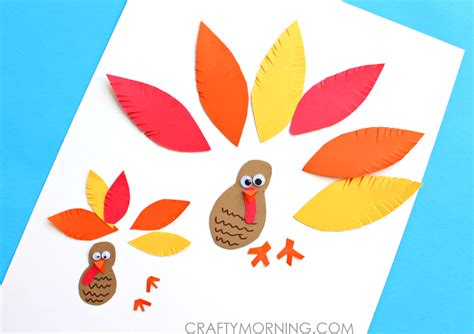 Paper Turkeys Kid Crafts - simple paper turkey craft for crafty morning