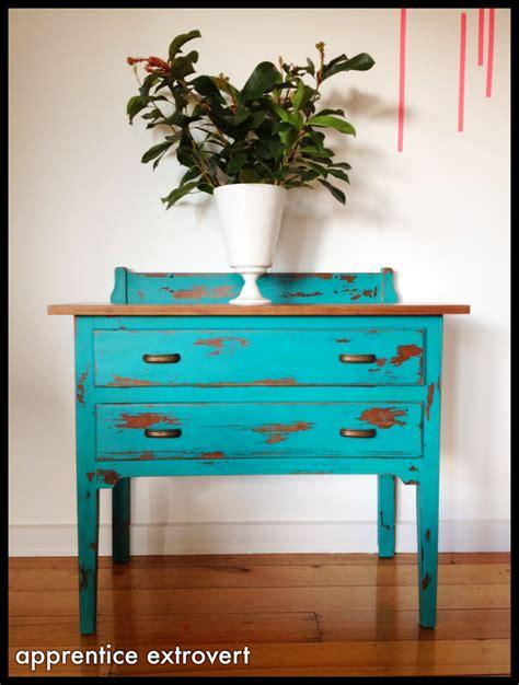 diy blue chalk paint apprentice extrovert before and after vintage dresser