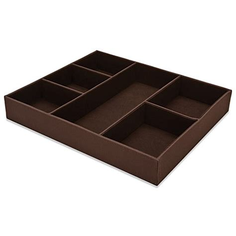 bed bath and beyond dresser drawer organizer 6 compartment drawer organizer in chocolate bed bath